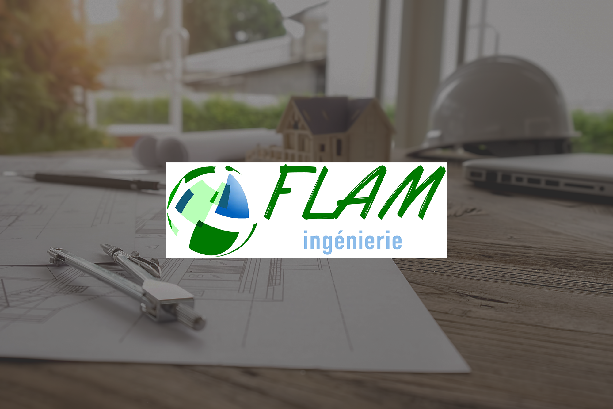 Logo Flam Ingénierie réalisé par LR Communication